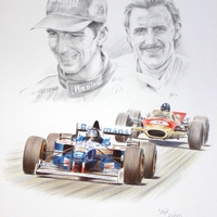 Damon and Graham Hill