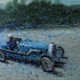 Bugatti painting by Simon Taylor