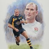 Laurence Dallaglio Watercolour by Simon Taylor