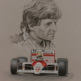 Steve Nichols drawing by Simon Taylor